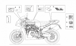 Frame - Decal Op.Handbooks And Plate Set - Aprilia - Rivet 3x11