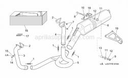 Frame - Exhaust Pipe - Aprilia - Spring