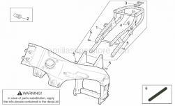 Frame - Frame I - Aprilia - Rear fairing support