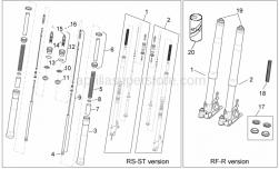 Frame - Front Fork I - Aprilia - Plug cpl.