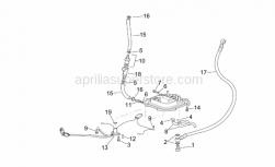 Frame - Fuel Pump II - Aprilia - Screw w/ flange M5x12