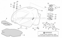 Frame - Fuel Tank - Aprilia - Tank support