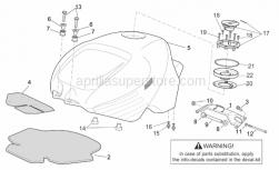 Frame - Fuel Tank - Aprilia - Screw w/ flange M6x30