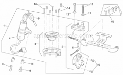Frame - Lock Hardware Kit - Aprilia - Pass.saddle connecting plate