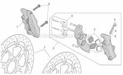Frame - R-Rf Vers. Front Brake Caliper - Aprilia - RH Front brake caliper, gold