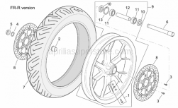 Frame - R-Rf Version Front Wheel - Aprilia - Wheel spindle nut