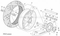 Frame - R-Rf Version Rear Wheel - Aprilia - Wheel spindle nut M25x1,5