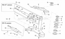 Frame - Steering - Aprilia - Return ring nut