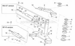 Frame - Steering - Aprilia - Screw w/ flange