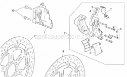 Frame - St-Rs Vers. Front Brake Caliper - Aprilia - RH Front brake caliper, gold