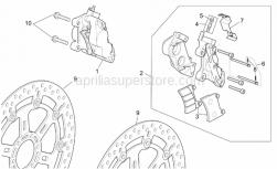 Frame - St-Rs Vers. Front Brake Caliper - Aprilia - Pads pair