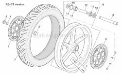 Frame - St-Rs Version Front Wheel - Aprilia - Front wheel, red