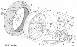 Frame - St-Rs Version Rear Wheel - Aprilia - Tubeless tyre valve