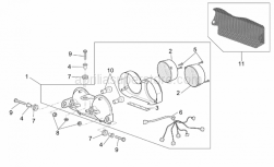 Frame - Taillight - Aprilia - Rear headlight cov.currently ABOLISHED BY Aprilia