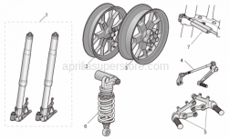Accessories - Acc. - Cyclistic Components - Aprilia - Rear wheel, magnesium RED