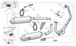 Accessories - Acc. - Performance Parts III - Aprilia - Cpl. Exhaust Fix kit