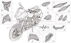 Accessories - Acc. - Special Body Parts - Aprilia - Right Heel Guard, 07-08 Tuono