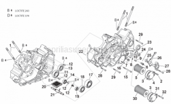 Engine - Crankcases Ii - Aprilia - Ball bearing 6205