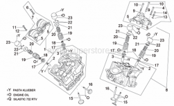 Engine - Cylinder Head And Valves - Aprilia - Intake valve guide
