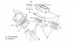 Engine - Cylinder With Piston - Aprilia - Cylinder with piston