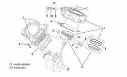 Engine - Cylinder With Piston - Aprilia - Piston pin 22x14x55