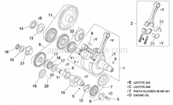 Engine - Drive Shaft - Aprilia - Balance shaft gear cpl.