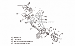 Engine - Front Cylinder Timing System - Aprilia - Bearings support Plate