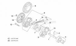 Engine - Oil Pump - Aprilia - Oil pump gear z=42
