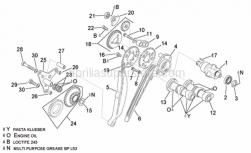 Engine - Rear Cylinder Timing System - Aprilia - Timing system gear