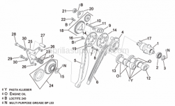 Engine - Rear Cylinder Timing System - Aprilia - Transmission key 3x3,7