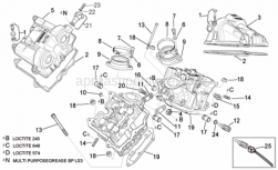 Engine - Valves Cover - Aprilia - Hex socket screw M8x25