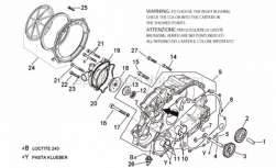 Engine - Water Pump - Aprilia - Gasket