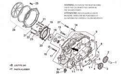 Engine - Water Pump - Aprilia - Clutch cover