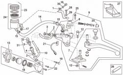 Frame - Clutch Pump - Aprilia - Screw w/ flange