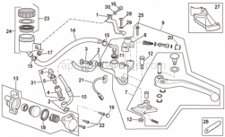 Frame - Clutch Pump - Aprilia - AIR JET
