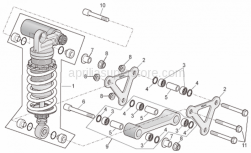 Frame - Connecting Rod - Rear Shock Abs. - Aprilia - Piston pin L=36