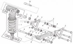 Frame - Connecting Rod - Rear Shock Abs. - Aprilia - Screw w/ flange M10x61