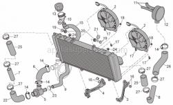 Frame - Cooling System - Aprilia - RH inf.water cooler holder