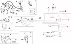Frame - Electrical System II - Aprilia - Terminal cap