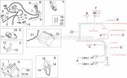 Frame - Electrical System II - Aprilia - Rubber sensor support