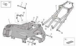 Frame - Frame I - Aprilia - Screw w/ flange M10x100
