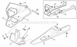 Frame - Front Body - Fairings II - Aprilia - RH pillar decal Aprilia