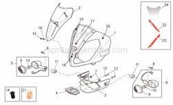 Frame - Front Body - Front Fairing - Aprilia - Hex socket screw M6x20