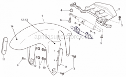 Frame - Front Body - Front Mudguard - Aprilia - PARAFANGO ANT.V.NERO APRILIA