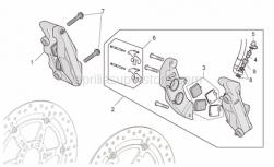 Frame - Front Brake Caliper I - Aprilia - Screw w/ flange M10x55