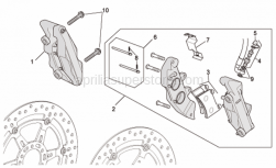 Frame - Front Brake Caliper II - Aprilia - Pin+split pin