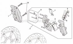 Frame - Front Brake Caliper Ii - Aprilia - Screw w/ flange M10x55