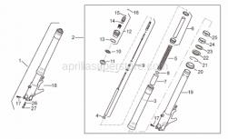 Frame - Front Fork I - Aprilia - Screw w/ flange M8x40