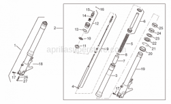 Frame - Front Fork I - Aprilia - screw M10x1,5