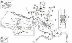 Frame - Front Master Cilinder - Aprilia - Screw w/ flange M5x12